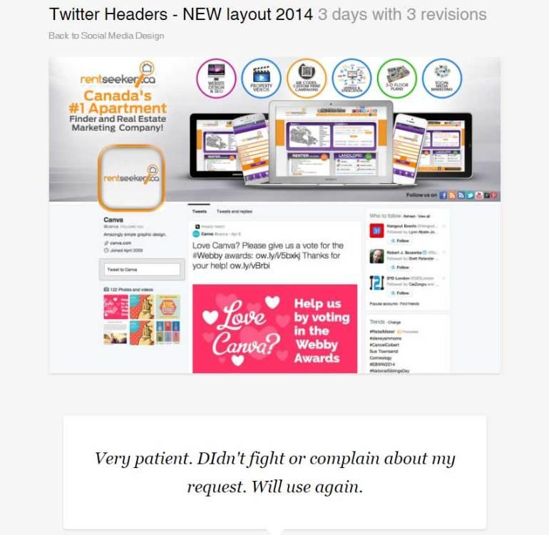 Twitter Headers - NEW layout 2014 by BannerDesignCo