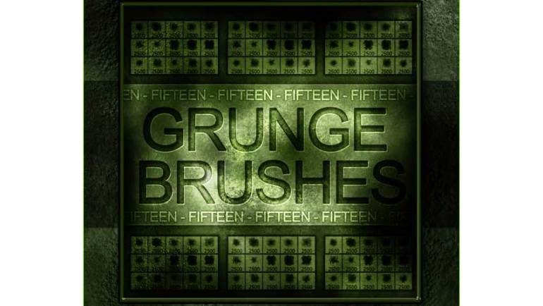 15 Grunge Hi-Res Photoshop Brushes