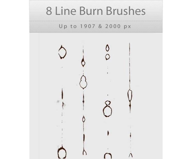 8 Line Burn Photoshop Brushes