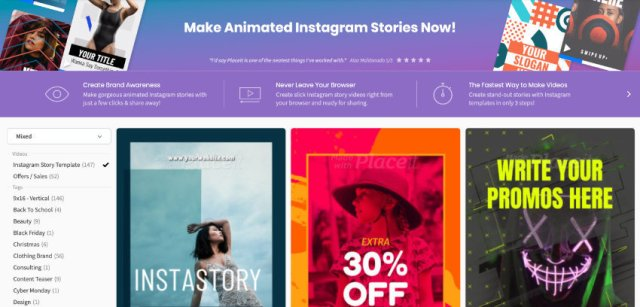Instagram Stories online maker