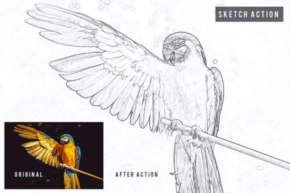 Sketch Action Photoshop effect