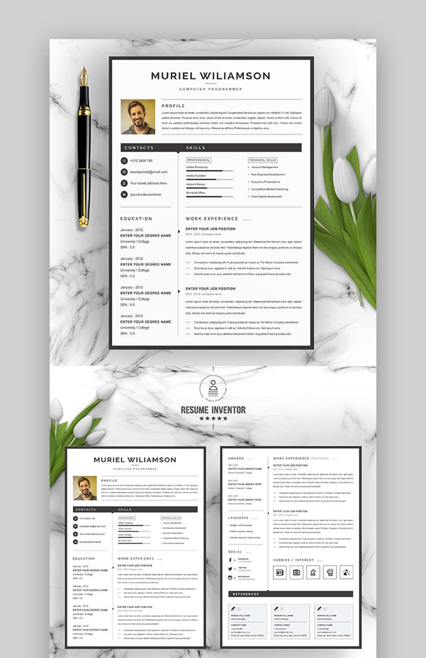 Consider adding extra information about your degree on a resume (e.g. 35 Best Professional Business Resume Cv Templates 2021