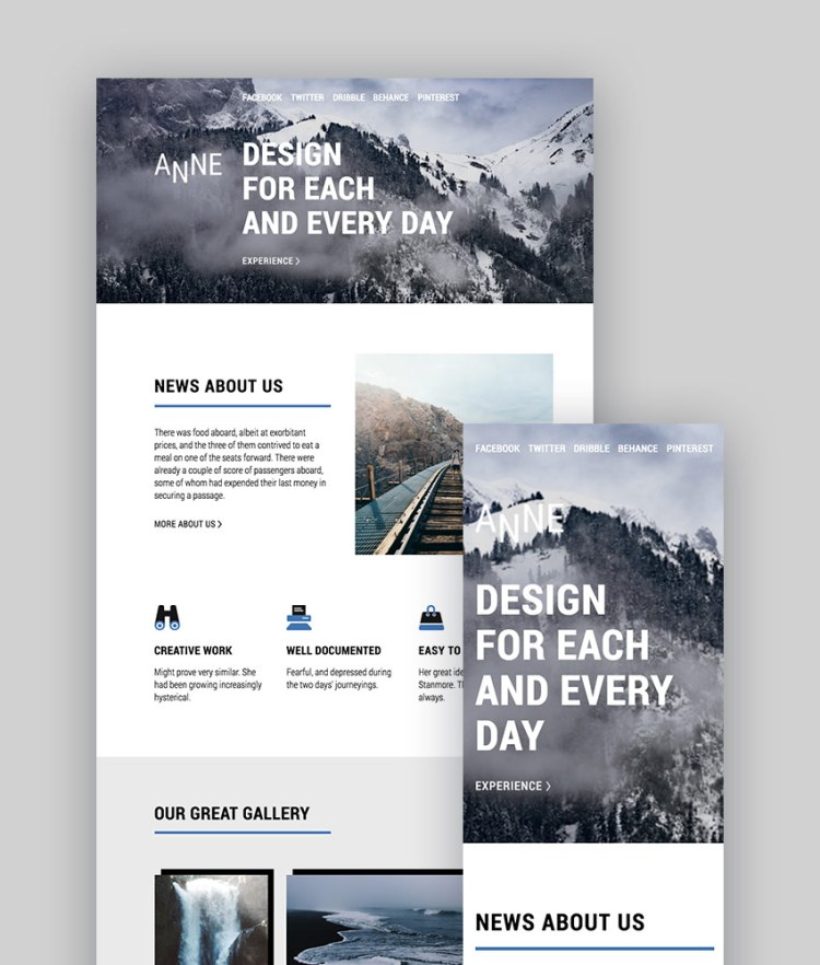 Anne Responsive Email StampReady Builder