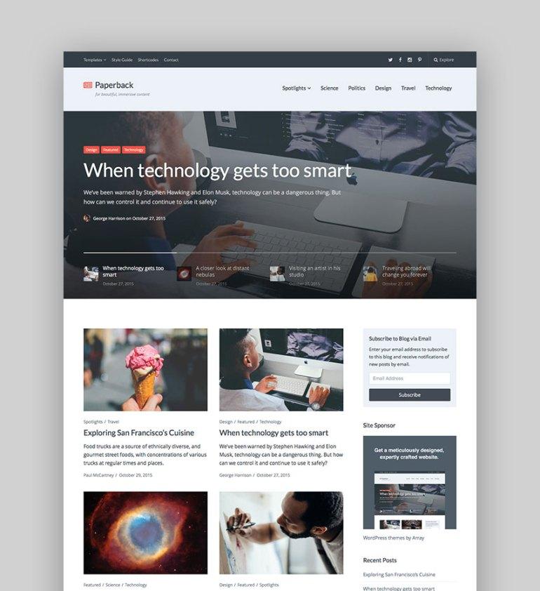 Paperback - Magazine WordPress Theme