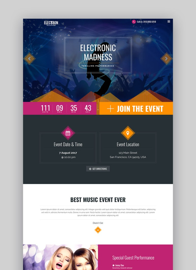 Electron - Event Concert  Conference WP Theme