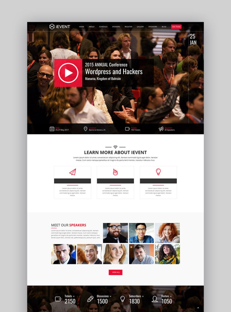 iEvent - Event  Conference WP Theme