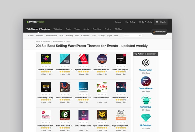 Best WordPress Event Themes available for sale on Envato Market ThemeForest