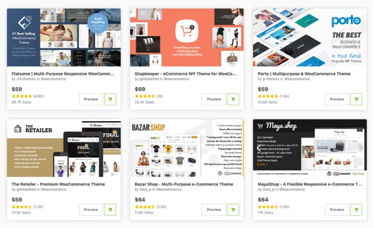best eCommerce themes for online stores