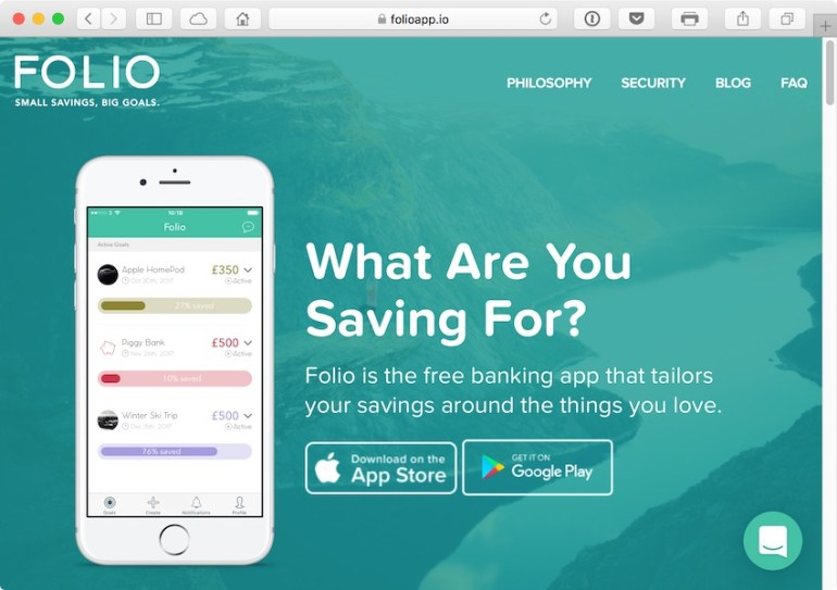 Folio is aiming to make saving a fun simple and personalised experience