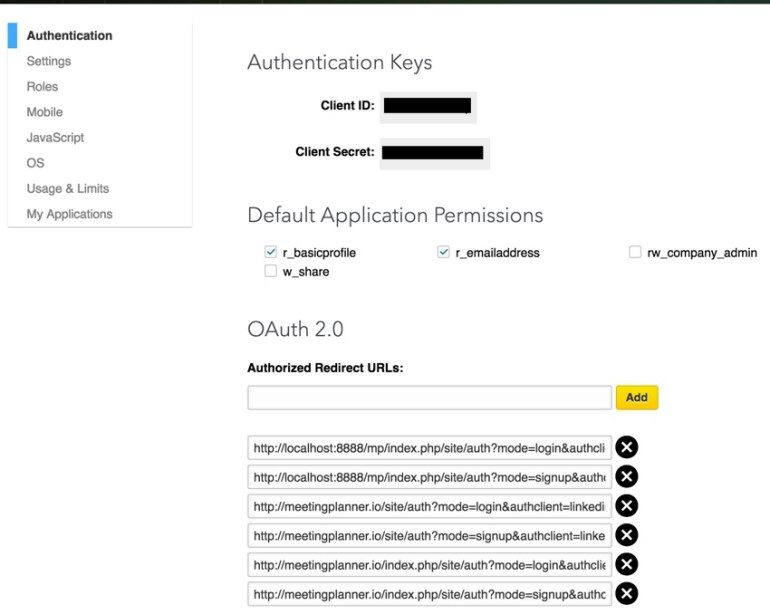 Building Your Startup OAuth - Google Dev App Keys and redirect URLs
