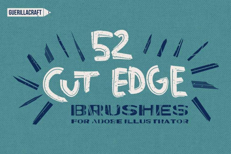 Cut Edge Brushes for Adobe Illustrator