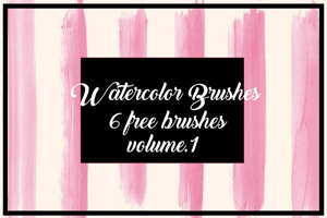 Free Watercolor Brushes for Illustrator