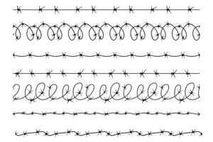 Razor Wire Brushes Vectors