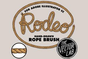 Rodeo Hand Drawn Rope Brush