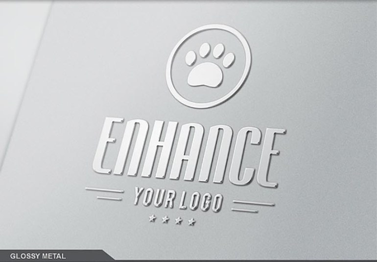 10 Photo Realistic Logo Mock-Ups