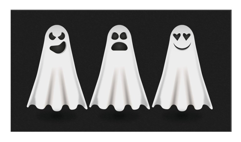 Adobe Illustrator Halloween Ghosts by Julie Lemaire