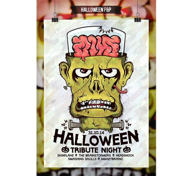 Frankenstein Halloween Flyer