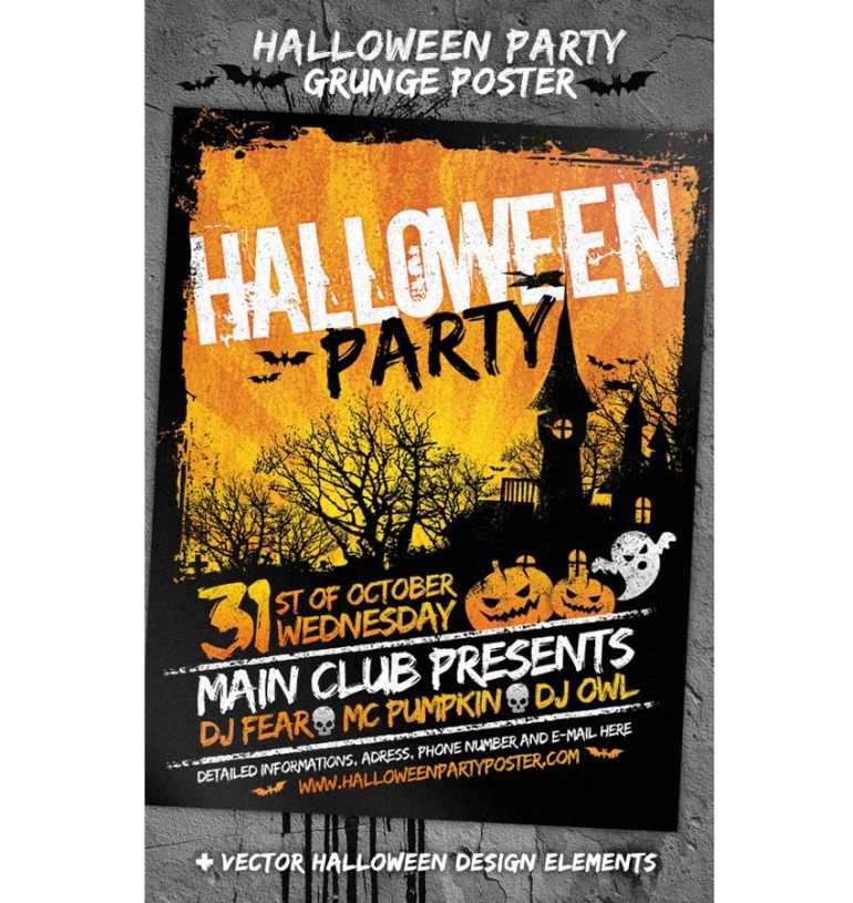 Grunge Halloween Party Flyer
