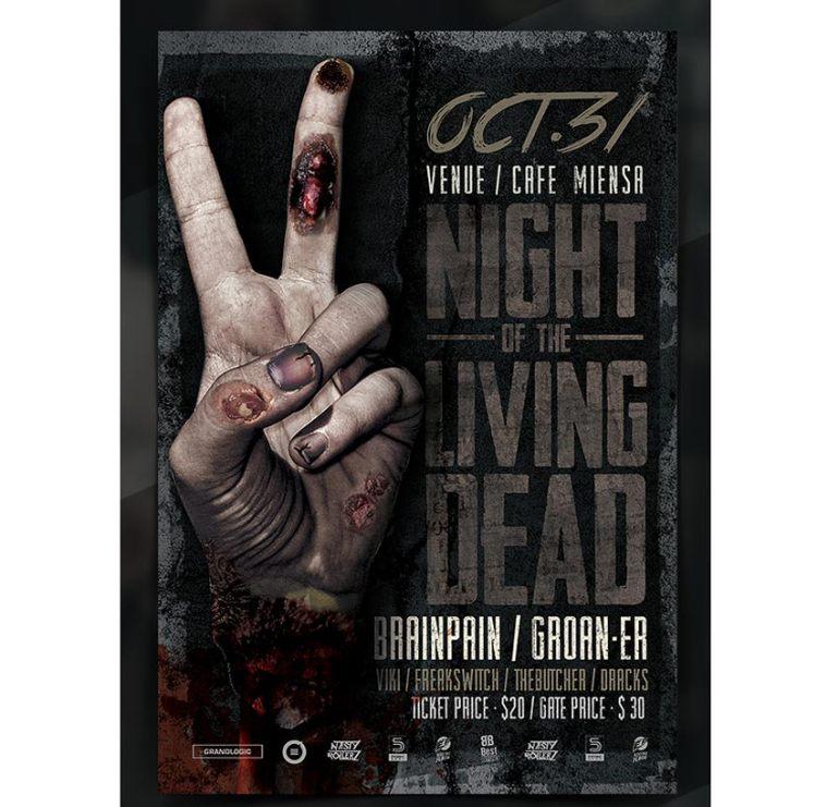 Gorey Zombie Hand Halloween Flyer