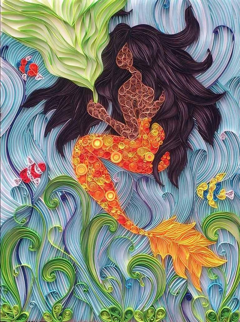 Under the Sea Paper Art by Ayobola Kekere-Ekun
