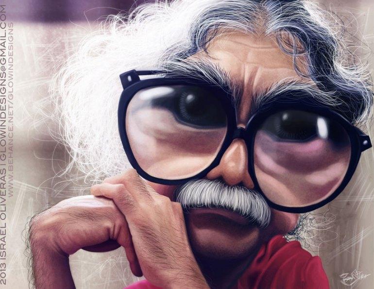 Oscar Lpez Rivera Caricature by Israel Oliveras
