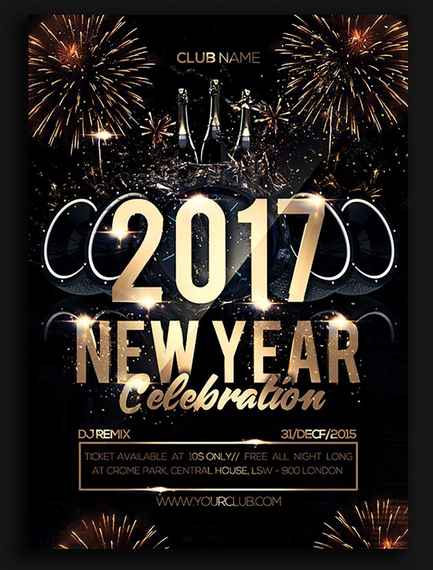 new year celebration poster