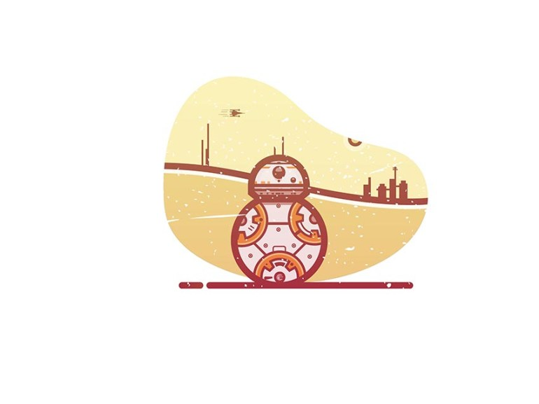 Vector Star Wars BB8 by Cricket