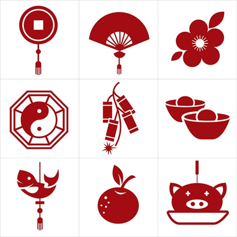 Modern Chinese New Year Icons