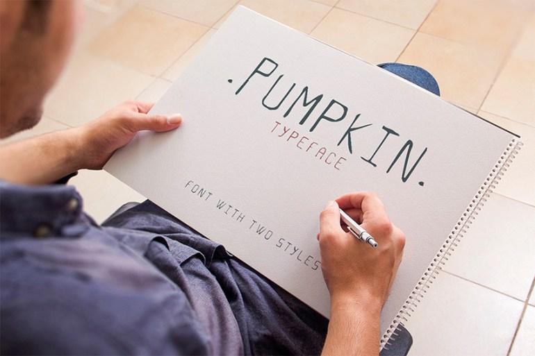 Pumpkin Script Typeface