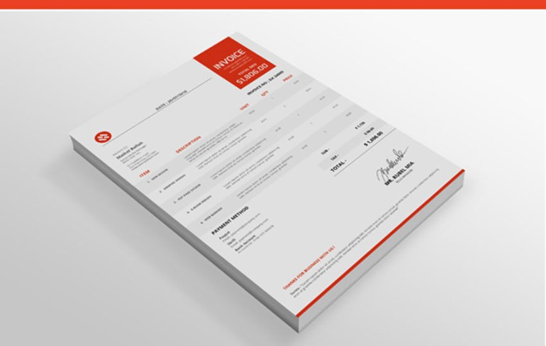 MS Word  Excel Invoice Template
