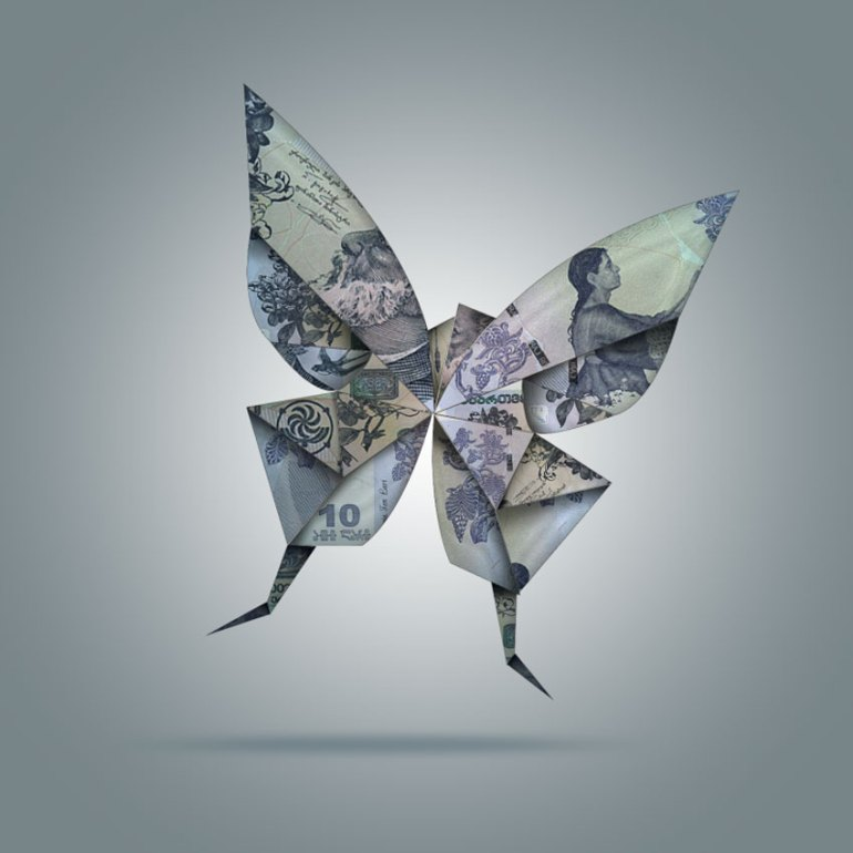 Create Origami Birds Using One Dollar Bills in Adobe Photoshop