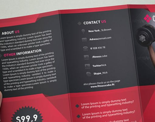 HD Decor Images » Premium Brochure Templates booklets And TriFolds Fitness Brochure     Premium Brochure Templates booklets And TriFolds