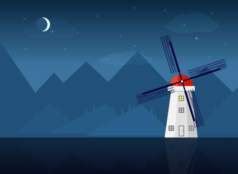 Create a Windmill Illustration in Sketch
