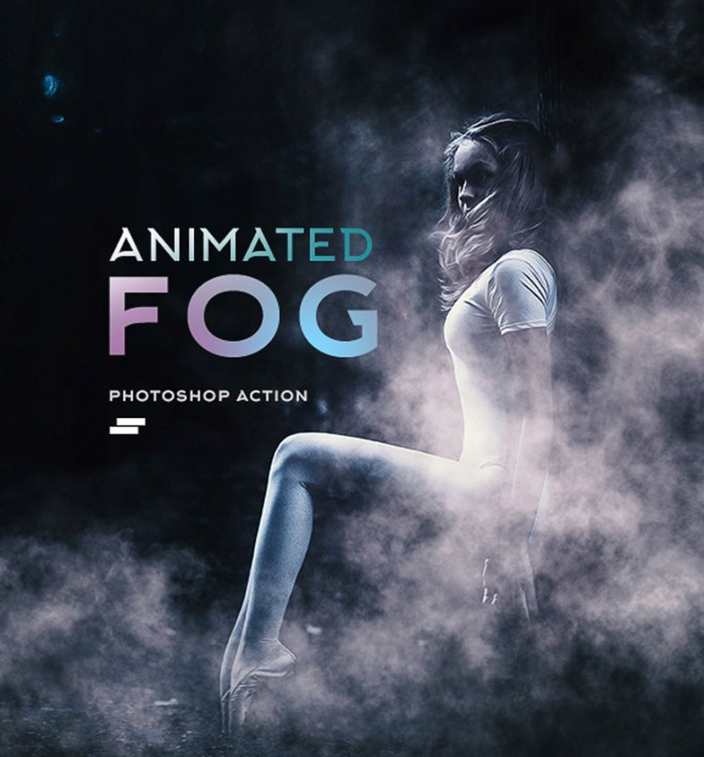 Gif Animated Fog Photoshop Action