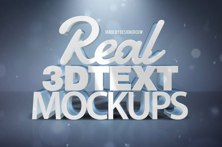 Real 3D text Mockups Vol 1