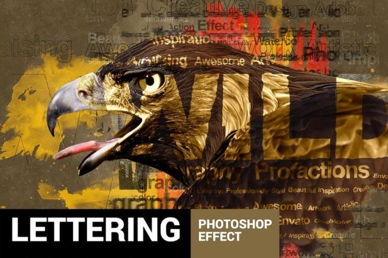 Textum Lettering Photoshop Action