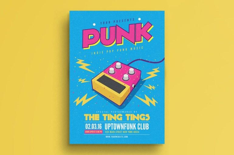 Pop Punk Music Flyer