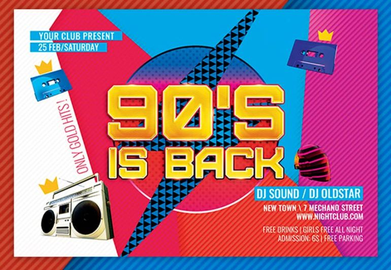 90s is Back Flyer