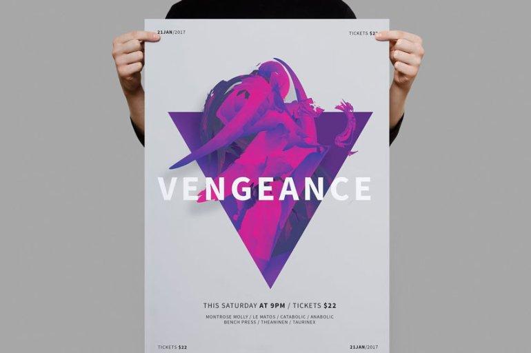Vengeance Poster Template