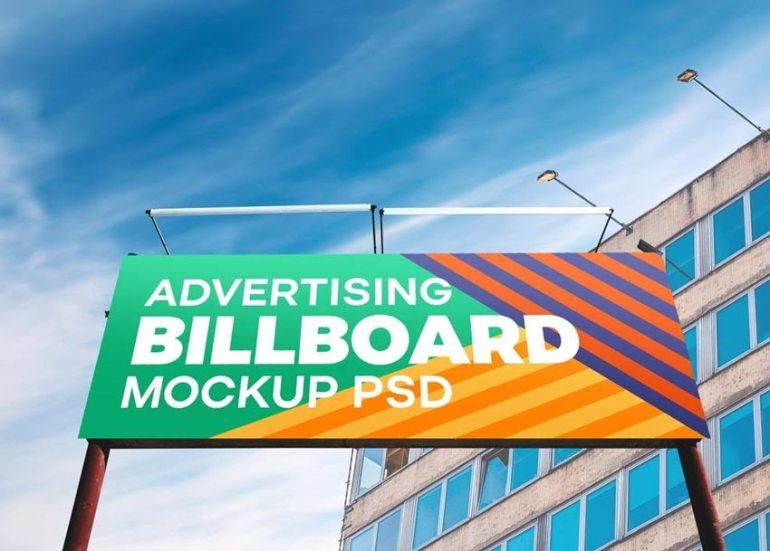 Huge Outdoor Billboard Mockup