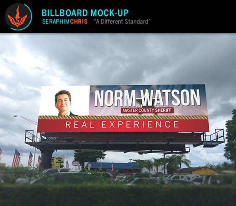 Billboard Mock-up Template