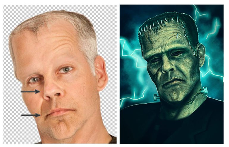 Frankenstein Photo Manipulation Art Tutorial