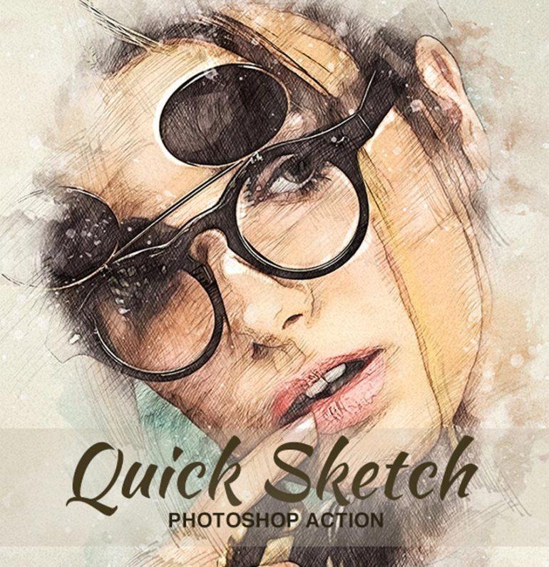 Quick Sketch Portrait Photoshop Action