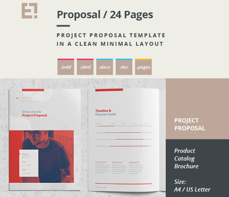 Minimal Proposal Brochure Template