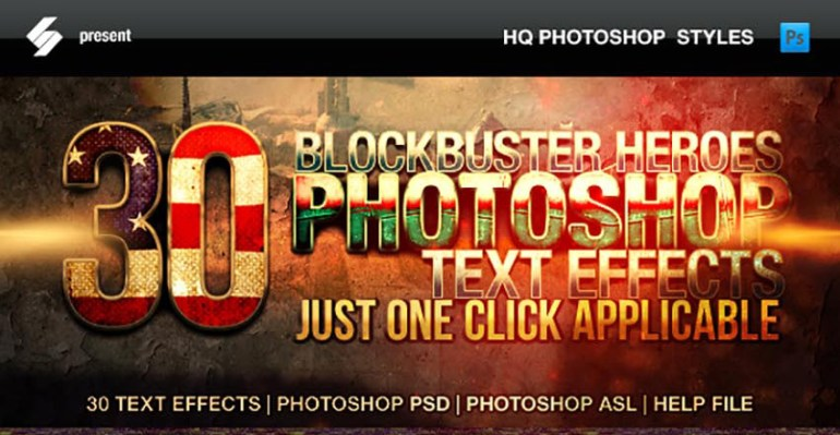 Blockbuster Heroes Style Text Effects