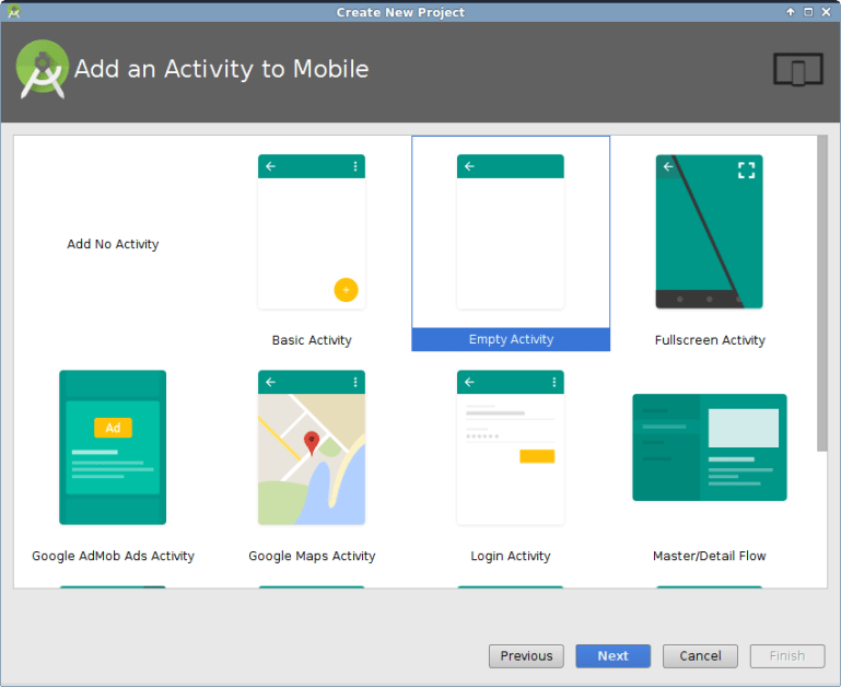 Add empty activity