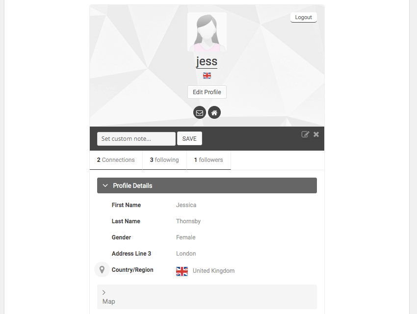 UserPros automatically adds a My profile page to your WordPress
