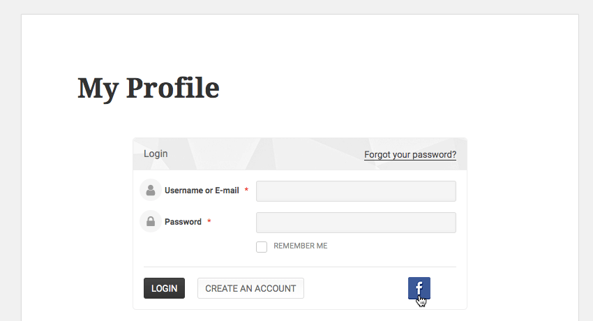 Once Facebook Connect is enabled users will be able to log in using their Facebook credentials