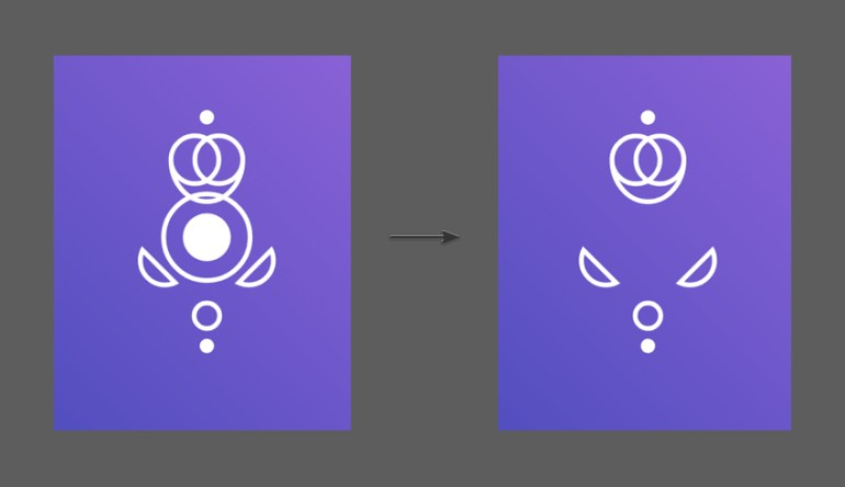Duplicate the Queen Icon and delete the middle shapes