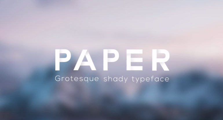 Paper - Grotesque Shady Animated Typeface for Premiere